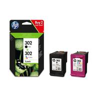 HP 302 2-pack Black/Tri-colour Original Ink Cartridges 190Seiten 165Seiten Schwarz, Gelb