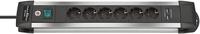 Brennenstuhl 1391000516 Innenraum 6AC outlet(s) 3m Schwarz Verlängerungskabel (Aluminium, Schwarz)