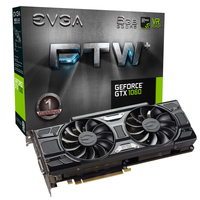 EVGA GeForce GTX 1060 FTW+ GAMING ACX 3.0 GeForce GTX 1060 6GB GDDR5 (Schwarz)
