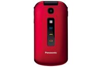 Panasonic KX-TU329EXRE 2.4Zoll 114g Schwarz, Rot Handy (Schwarz, Rot)