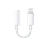 Apple MMX62ZM/A Lightning 3.5mm Weiß Kabelschnittstellen-/adapter (Weiß)