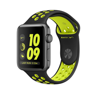 Apple Watch Nike+ OLED 34.2g Grau Smartwatch (Schwarz, Limette, Grau)