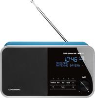 Grundig DTR 4000 DAB+ BT Uhr Blau Radio (Blau)