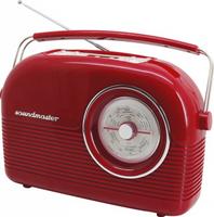 Soundmaster Retro Persönlich Analog & digital Rot Radio (Rot)