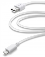Cellular Line USBDATAMFIIPH3MW 3m USB A Lightning Weiß USB Kabel (Weiß)