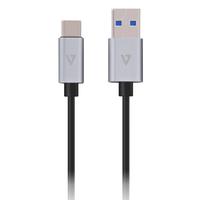 V7 USB Typ-C-auf-A-Kabel, 1 m – grau (Aluminium, Grau)