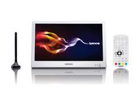 Lenco TFT-1028 10Zoll TFT 1024 x 600Pixel Weiß Tragbarer Fernseher (Weiß)