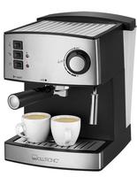 Clatronic ES 3643 Espresso machine 1.6l 2Tassen Schwarz, Edelstahl (Schwarz, Edelstahl)