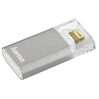 Hama Save2Data mini Lightning Silber Kartenleser (Silber, Transparent)