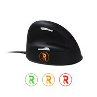 R-Go Tools HE Mouse Break, Ergonomische Maus, Anti-RSI-Software, Mittel (165-195mm), Kabelgebunden (Schwarz, Silber)