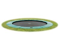 EXIT Supreme groundlevel trampoline ø427cm (14ft) - green (Türkis, Schwarz)