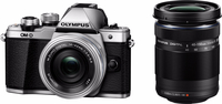 Olympus OM-D E-M10 Mark II + M.ZUIKO ED 14-42mm + M.ZUIKO ED 40‑150mm Systemkamera 16.1MP 4/3Zoll Live MOS 4608 x 3456Pixel Schwarz, Silber (Schwarz, Silber)