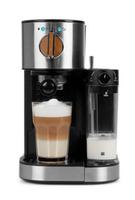 MEDION MD 17166 Freistehend Vollautomatisch Espressomaschine 1.2l Schwarz, Edelstahl (Schwarz, Edelstahl)