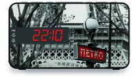 Bigben Interactive RR15METRO Uhr Schwarz, Weiß Radio (Schwarz, Weiß)