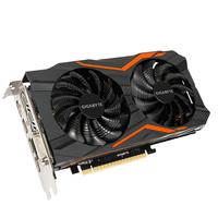 Gigabyte GV-N1050G1GAMING-2GD GeForce GTX 1050 2GB GDDR5 (Schwarz, Orange)