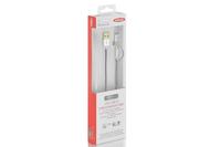 ASSMANN Electronic 31052 1m USB A Micro-USB B/Lightning Schwarz, Weiß Handykabel (Schwarz, Weiß)