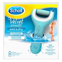Scholl Velvet Smooth Wet & Dry Pedi Blau Elektrisches Pediküregerät (Blau)