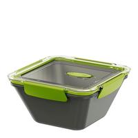 EMSA Bento Lunch container 1.5l Polypropylene (PP) Grün, Grau (Grün, Grau)