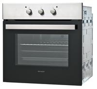 Sharp Home Appliances K-50M15IL2 Elektro 64l 2600W A Schwarz, Edelstahl (Schwarz, Edelstahl)