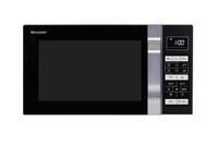 Sharp Home Appliances R760S Arbeitsfläche Kombi-Mikrowelle 23l 900W Schwarz, Silber Mikrowelle (Schwarz, Silber)