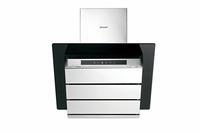 Sharp Home Appliances KL-610TBLM Wand-montiert 693m³/h B Schwarz, Edelstahl (Schwarz, Edelstahl)