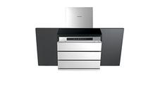 Sharp Home Appliances KL-910TBMH Wand-montiert 693m³/h B Schwarz, Edelstahl (Schwarz, Edelstahl)