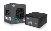 Cooler Master MasterWatt Lite 600W 600W ATX Schwarz (Schwarz)