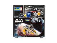 Revell Model Set Anakin's Jedi Starfighter Montagesatz Raumflugzeug (Grau, Orange)