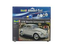 Revell Model Set VW Beetle Limousine 68 1:24 Montagesatz Stadtauto (Beige)