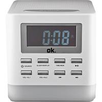 OK. OCR 410BT-W Uhr Digital Grau Radio (Grau)