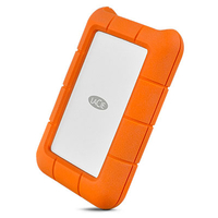 LaCie Rugged USB-C USB Type-C 3.0 (3.1 Gen 1) 1000GB Silber (Orange, Silber)