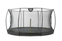 EXIT Silhouette Bodentrampolin + Sicherheitsnetz (Schwarz)