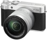 Fujifilm X A10 + 16-50mm f/3.5-5.6 Systemkamera 16.3MP CMOS 4896 x 3264Pixel Schwarz, Silber (Schwarz, Silber)