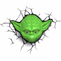 Bart Smit Star Wars 3D lamp Yoda Head Innenraum Grün Wandbeleuchtung (Grün)