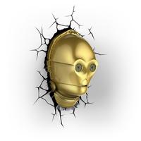 Bart Smit Star Wars 3D lamp C-3PO Innenraum Gold Wandbeleuchtung (Gold)