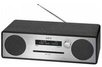 AEG MC 4469 Analog & digital Schwarz, Silber CD-Radio (Schwarz, Silber)
