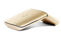 Lenovo GX30K69567 RF kabellos + Bluetooth Optisch 1600DPI Ambidextrös Gold Maus (Gold)