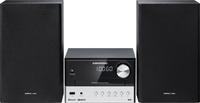 Grundig CMS 1050 BT DAB+ Micro-Set 30W Schwarz, Silber Home-Stereoanlage (Schwarz, Silber)