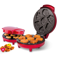 Trebs 99258 7cakes 700W Rot Cupcake- & Donut-Maker (Rot)