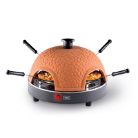 Trebs PizzaGusto 4pizza(s) 800W Schwarz Pizzamacher/Ofen (Schwarz, Orange)