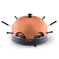 Trebs PizzaGusto 6pizza(s) 1000W Schwarz Pizzamacher/Ofen (Schwarz, Orange)