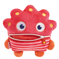 Schmidt Spiele Mika Monster Plüsch Rot (Pink, Rot)