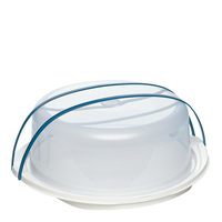 EMSA SUPERLINE Rund Polypropylene (PP) Blau, Weiß Kuchenbehälter (Blau, Weiß)