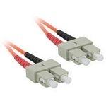 C2G 3m SC/SC LSZH Duplex 62.5/125 Multimode Fibre Patch Cable