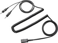 Plantronics Quick Disconnect cable to dual 3.5mm (Schwarz)