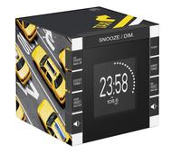 Bigben Interactive RR70PTAXI Uhr Digital Schwarz, Grau, Gelb Radio (Schwarz, Grau, Gelb)