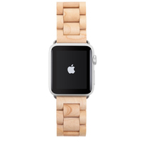 Woodcessories ECO147 Band Maple colour, Silber Holz Smartwatch-Zubehör (Maple colour, Silber)