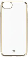 Xqisit 26950 4.7Zoll Abdeckung Gold,Transparent Handy-Schutzhülle (Gold, Transparent)