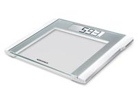 Soehnle Comfort 200 Elektronische Personenwaage Quadratisch Silber, Weiß (Silber, Weiß)
