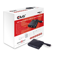 CLUB3D Mini Dock USB Type-C to Displayport1.2 + USB3.0 + USB Type C Charging (Schwarz)